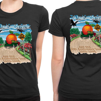 Allman Brothers Band Th Anniversary Tour 2 Sided Womens T Shirt