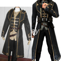 High quality Dishonored Corvo Attano Cosplay Costume