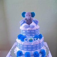 Boy Elephant Diaper Cake