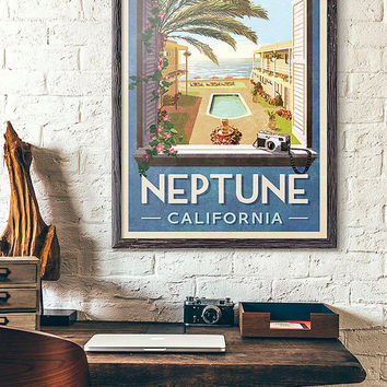 Neptune California Travel Poster - Inspired by Veronica Mars