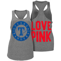 NWT Texas Rangers Victoria Secret PINK Heathered Racerback Baseball Tank