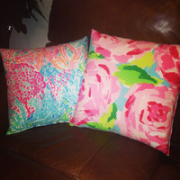 Lilly Pulitzer Print Hand Sewn Pillows