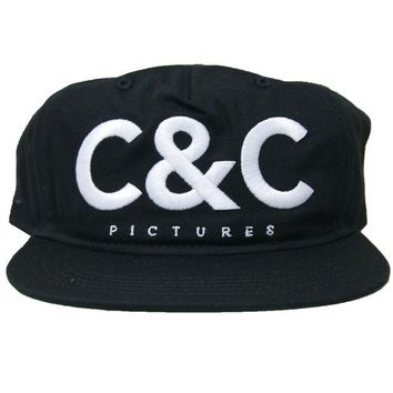 ONETOW Crooks & Castle C&C Picture Snapback In Black