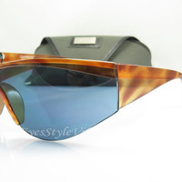 Gianni Versace 674 , Update , Vintage Sunglasses , Tortoise , Large , Lady Gage Style , Oversized , w/Case , NOS