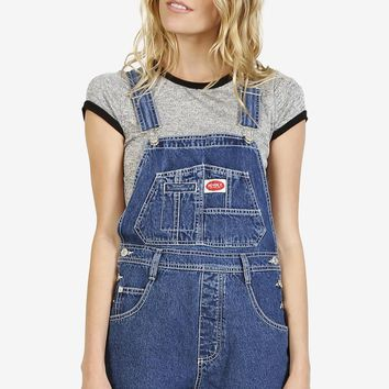 Over It Deadstock Overalls   Denim Blue