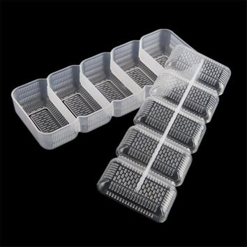 5 Rolls Sushi Maker Sushi Mold Storage Box Rice Form Bamboo Mat and Rice Paddle Wood Food For Kitchen Bento Cooking Tool LPT2571
