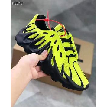 Adidas Charlescharlyc Yeezy 451 Kanye Fashion Women Men Casual Running Sport Shoes Sneakers Yellow