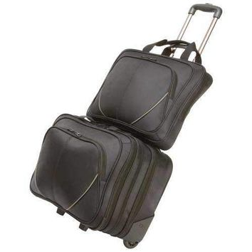 2pc Trolley Business/Overnight Bag with Laptop Bag