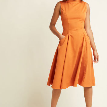 Mod for Each Other A-Line Midi Dress