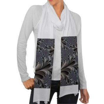 fractal abstract design scarf