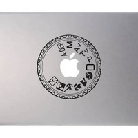 camera dial laptop decal, MacBook, Apple, Cool sticker