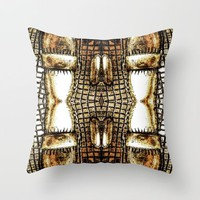 Go Gold Or Go Home Throw Pillow by Louisa Catharine Art And Patterns