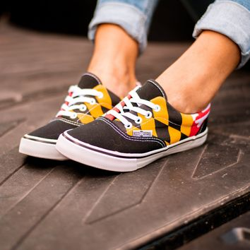 d83d00934d Maryland Flag (Black)   Shoes from Route One Apparel