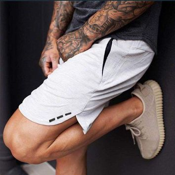 Fashion Men's Cotton Shorts Crossfit Joggers Gyms Clothing Active Panties Elastic Waist Fitness Workout Quick-drying Sweatpants