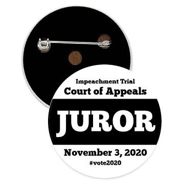 Impeachment Court Of Appeals - Juror - Pin - 1-in