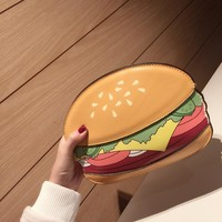 Unique Popcorn Shape Women Messenger Bags Leather Handbags Hamburger French Fries Design Women Clutch Wallet Bag Bolsa Feminina