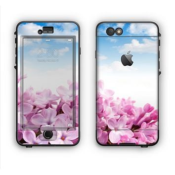 The Blue Sky Pink Flower Field Apple iPhone 6 LifeProof Nuud Case Skin Set