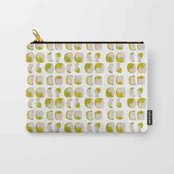 Eating process (Apple) // watercolor apple consumption Carry-All Pouch by Camila Quintana S