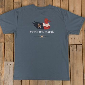 Authentic Georgia Heritage Tee in Slate by Southern Marsh