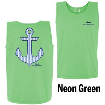 Seersucker Anchor Tank Top