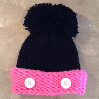 Minnie Mouse Inspired Disney Infant Baby Knitted Winter Hat  Ask a Question