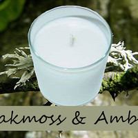 Oakmoss and Amber Scented Candle in Tumbler 13 oz