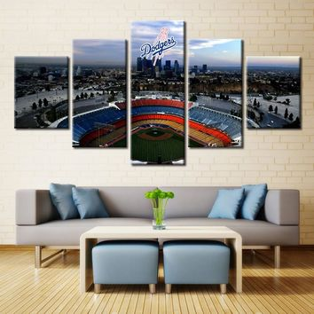 Los Angeles Dodgers Stadium Baseball Canvas