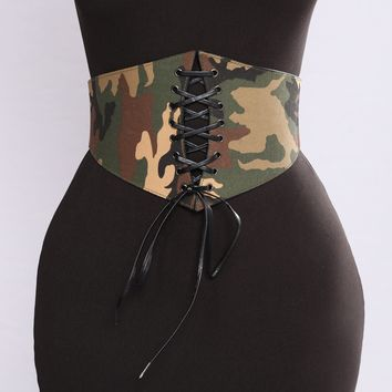 Call On Me Corset Belt - Camo