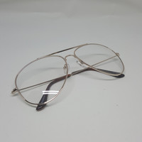 Metal Clear Lens Aviator Glasses