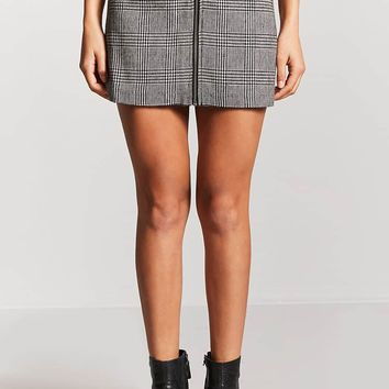 Glen Plaid A-Line Mini Skirt