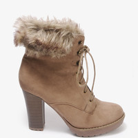 Faux Fur Trim Booties