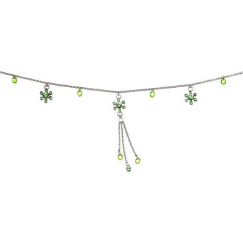 Peridot Green Precious Gem Flower Belly Chain
