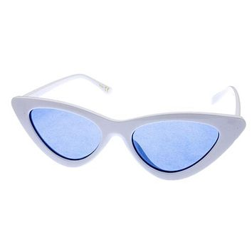 Cat Eye Shades - White/ Blue