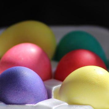 Citrus And Ultra Violet Easter Eggs by Colleen Cornelius
