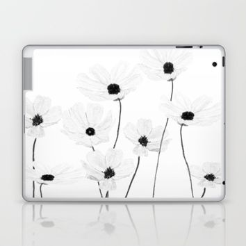 black and white cosmos  Laptop & iPad Skin by Color and Color