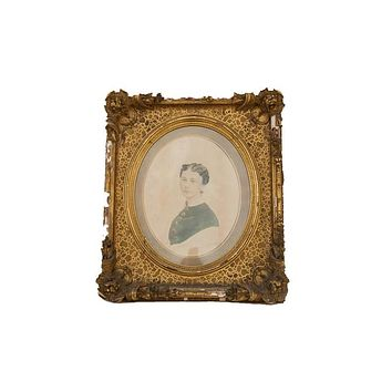 Antique Gold Gilt Frame Portrait