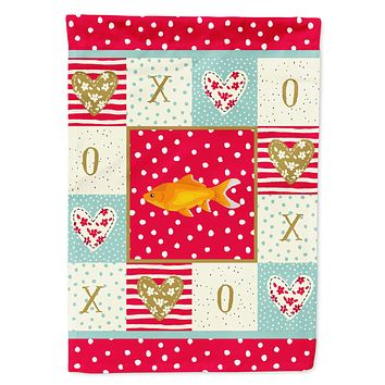 Goldfish Common Love Flag Canvas House Size CK5473CHF