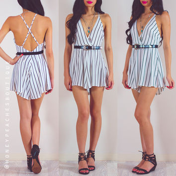 Unscripted Stripe Playsuit