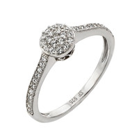 Micro Pave Sterling Silver CZ Wedding Ring- Engagement Ring- Promise Ring