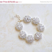 35% Off Bridal Bracelet Ivanka Trump Cushion CZ Silver IB4P