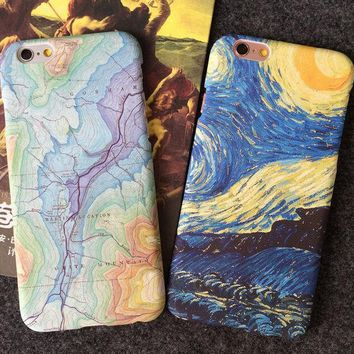 Unique World Map Travelling Case for iPhone