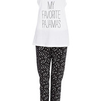 My Favorite Pajamas PJ Set