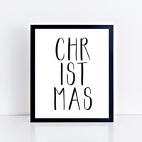 CHRISTMAS, printable, xmas, minimal, minimalist, wall decor, wall art, home decor, modern, quote, holidays, gift idea, INSTANT DOWNLOAD