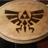 Zelda inspired Woodburned (pyrography) Plaque