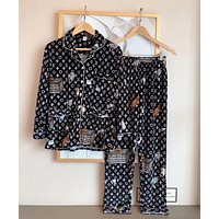 Louis Vuitton LV Fashion Woman Girld More Print Pajamas Louis vuitton leisure wear two piece