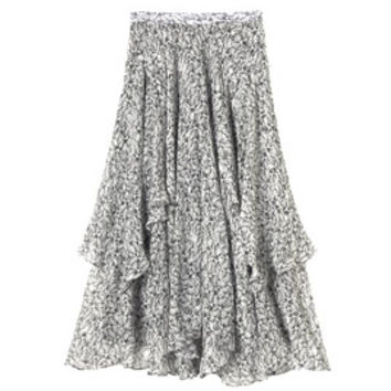 Rebecca Taylor Flight Feather Tiered Skirt