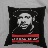 Jam Master Jay Pillow by CajunMoonDesigns on Etsy