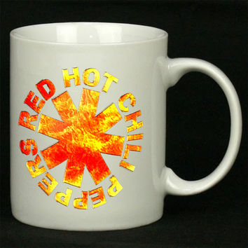 Red Hot Chili Peppers fire logo For Ceramic Mugs Coffee *