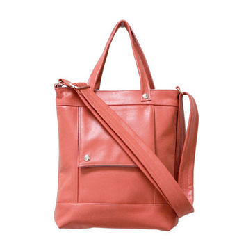 Packet in Sea Coral Pink Leather -  Ready to Ship
