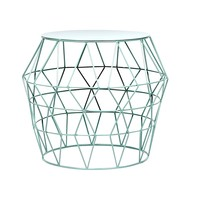 Aqua Metal Drum Stool | Overstock.com Shopping - The Best Deals on Coffee, Sofa & End Tables